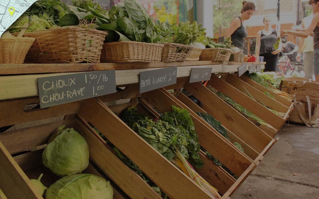 Image de fond du thème À l'épicerie